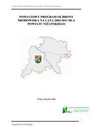 Program Ochrony Środowiska na lata 2004-2011 dla Powiatu ...