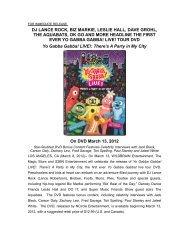 Press Release- DVD-YGG LIVE TOUR (March 2012 ... - Wild Brain