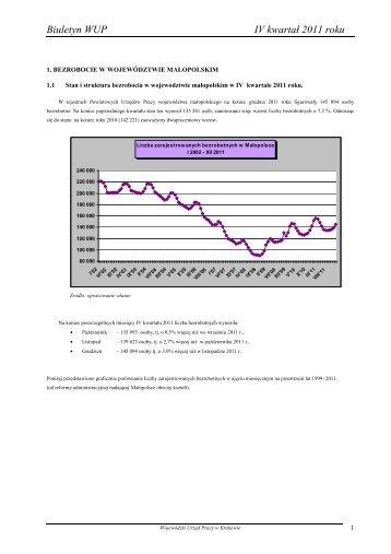 Biuletyn WUP IV kwartał 2011 roku - Wojewódzki Urząd Pracy w ...