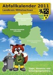 Abfallkalender 2011 - Geringswalde