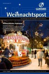 Weihnachtspost 2011 - Wirtschaftsgemeinschaft Hohenems