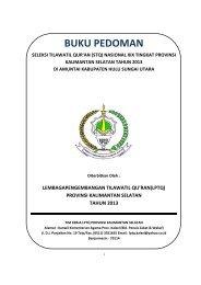 BUKU PEDOMAN - Kanwil Kemenag Provinsi Kalimantan Selatan