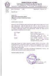 KEMENTERIAN AGAMA - Kanwil Kemenag Provinsi Kalimantan ...