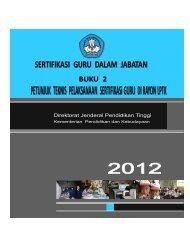 Buku 2 Petunjuk Teknis Pelaksanaan Sertifikasi Guru - Kanwil ...