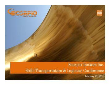 Stifel Transportation & Logistics Conference, February 12, 2014