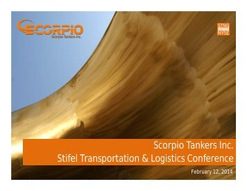 Stifel Transportation & Logistics Conference, February 12, 2014