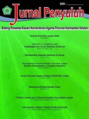 Edisi 1 - Kanwil Kemenag Provinsi Kalimantan Selatan