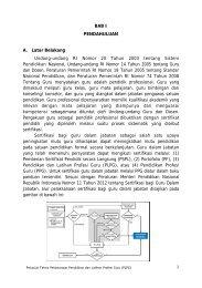 Petunjuk Teknis PLPG