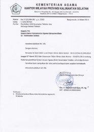 Surat Edaran KUA dan Keluarga Sakinah Teladan 2013 - Kanwil ...