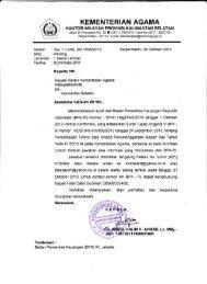Konfirmasi BPK - Kanwil Kemenag Provinsi Kalimantan Selatan