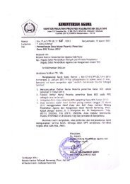 Permohonan Data - Kanwil Kemenag Provinsi Kalimantan Selatan