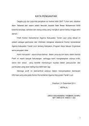 KATA PENGANTAR - Kanwil Kemenag Provinsi Kalimantan Selatan
