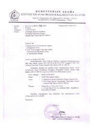 Undangan Rakor - Kanwil Kemenag Provinsi Kalimantan Selatan