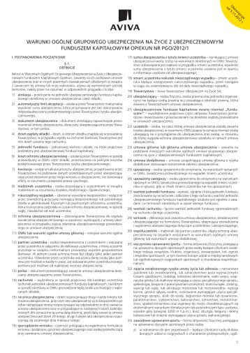 121006 OWU Opiekun z opcjami 2012-10.indd - Aviva