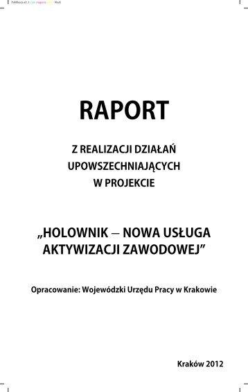Raport z działań upowszechniających - Wojewódzki Urząd Pracy w ...