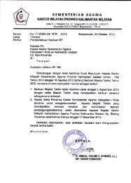 Pemberitahuan Bantuan MT - Kanwil Kemenag Provinsi Kalimantan ...