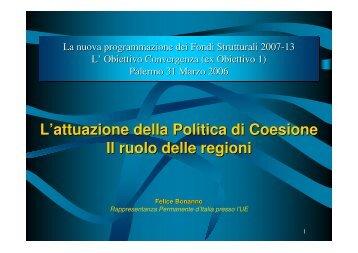 Obiettivo Convergenza (ex Obiettivo 1) - Confindustria Sicilia