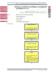 Sletting av melding når meldingen er ferdigmeldt og godkjent (a, b, c)