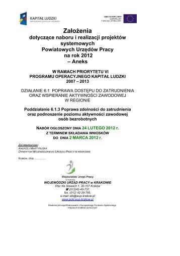Zalozenia_dla+PUP_6_.. - POKL - Wojewódzki Urząd Pracy w ...