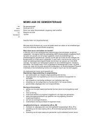 Memo 2013 122160 Stand van zaken decentralisatie jeugdzorg ...