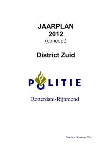 Jaarplan politie 2012 - Gemeente Albrandswaard