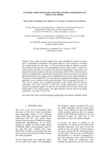 CONTROL CODE GENERATOR USED FOR ... - ResearchGate