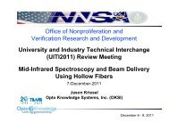 Mid-Infrared Spectroscopy and Beam Delivery Using ... - Techexpo