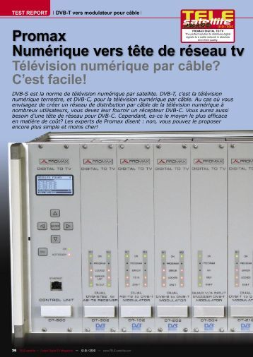 Digital To TV - TELE-Satellite - Promax