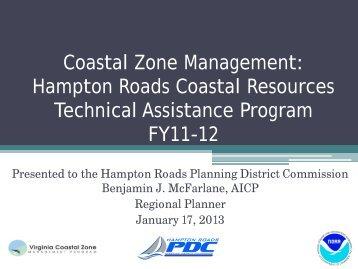 Coastal Zone Program - Hampton Roads Planning District ...