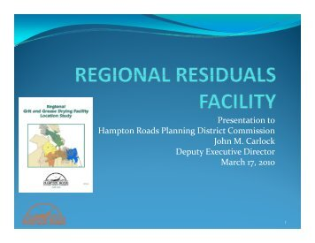 Regional Residuals (Grit and Grease) Drying Facility - Hampton ...