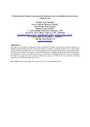 O Sensoriamento Remoto na proposição de plano de uso em ... - OBT