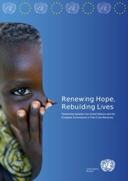 Renewing Hope, Rebuilding Lives - European Union @ United ...