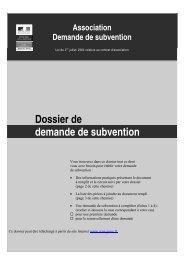 Dossier de demande de subvention - ONAC
