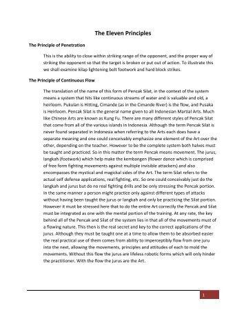 The Eleven Principles - Pukulan Cimande Pusaka