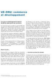 UE-ONU: commerce et développement