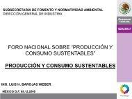"""Foro Nacional sobre """"Producción y Consumo ... - Coparmex"""