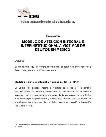 PROPUESTA DE MODELO DE ATENCIN INTEGRAL A ... - Coparmex