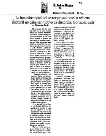 '^ La inconformidad del sector privado con la reforma ... - Coparmex