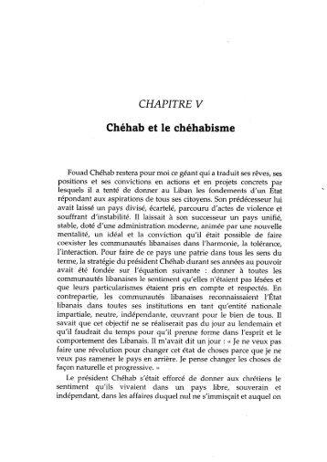 Chapitre 5 – Chéhab et le Chéhabisme