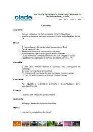 Boletin de Biocombustibles No 36 - OLADE