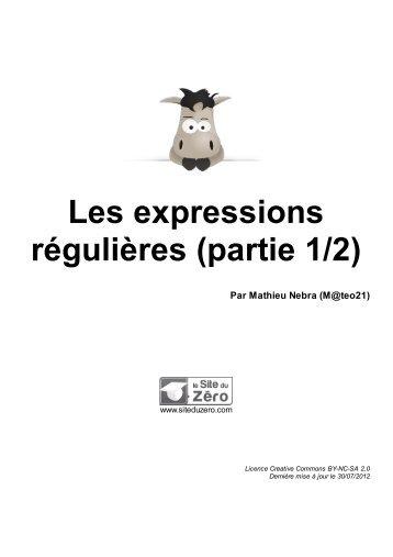 Les expressions régulières (partie 1/2)
