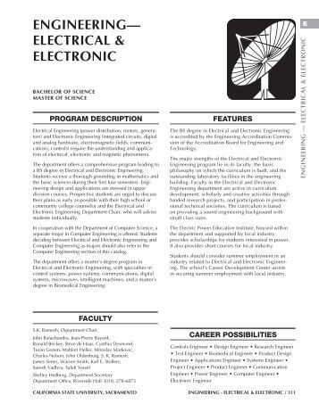 engineering— electrical & electronic - Previous Catalogs - California ...