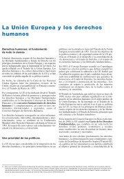 La Unión Europea y los derechos humanos - Europa
