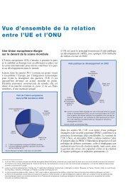Vue d'ensemble de la relation entre l'UE et l'ONU - Europa