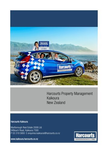 Harcourts Property Management Kaikoura New Zealand