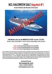 NCL HALOWEEN SALE Angebot # 1 - ferryexperts.com