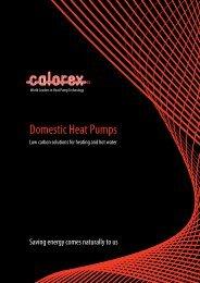 Domestic Heat Pumps - Calorex