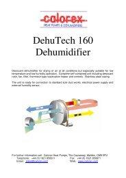 DehuTech 160 Dehumidifier - Calorex