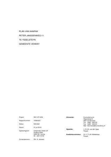 Bijlage 6 Plan van aanpak bodemsanering - Ruimtelijkeplannen.nl