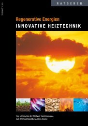 Regenerative Energien innovativE HEiztEcHnik - Will - Bau und Bad